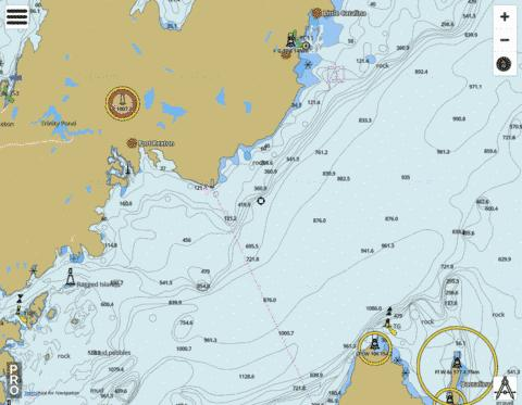 Trinity Bay - Northern Portion/Partie Nord Marine Chart - Nautical Charts App