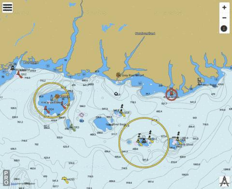 Burgeo to/� Fran�ois Marine Chart - Nautical Charts App