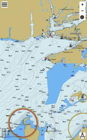 Hare Bay to/à Fortune Head Marine Chart - Nautical Charts App