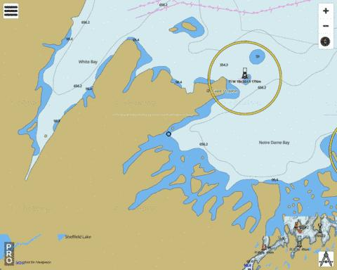 White Bay and/et Notre Dame Bay Marine Chart - Nautical Charts App