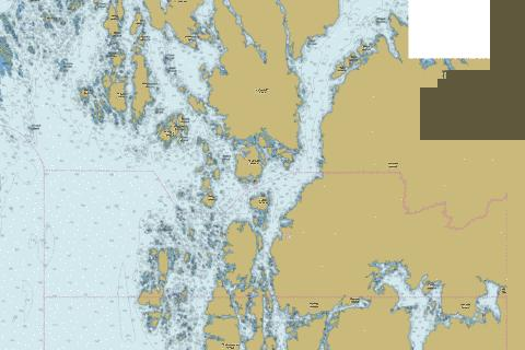 Queens Sound and Approaches\et les approches (Part 3 of 3) Marine Chart - Nautical Charts App