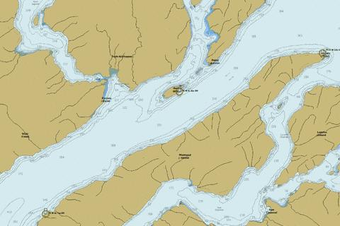 Douglas Channel - Central Portion\Partie Centrale Marine Chart - Nautical Charts App