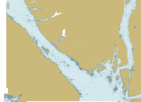 Laredo Channel, Laredo Inlet and\et Surf Inlet (part 1 of 2) Marine Chart - Nautical Charts App