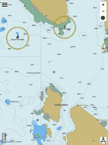 Caama�o to\� Whale Channel (part 2 of 2) Marine Chart - Nautical Charts App