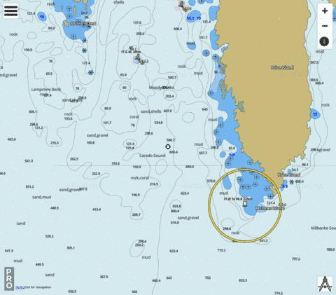 Laredo Sound Part 2 Marine Chart - Nautical Charts App