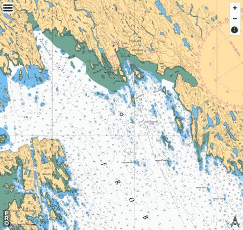 Approaches to/� Koojesse Inlet Marine Chart - Nautical Charts App