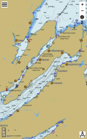 Great Bras D'Or, St. Andrews Channel and/et St. Anns Bay Marine Chart - Nautical Charts App