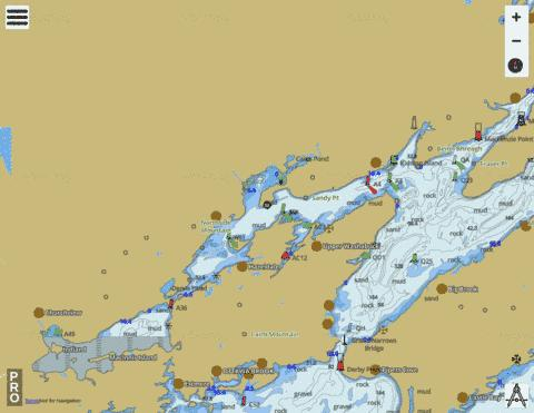 Great Bras D'Or and/et St. Patricks Channel Marine Chart - Nautical Charts App