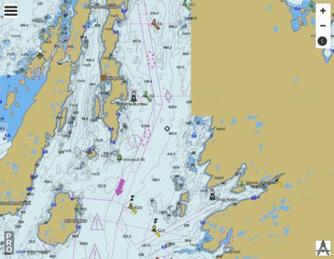 Red Island to Pinchgut Point Marine Chart - Nautical Charts App