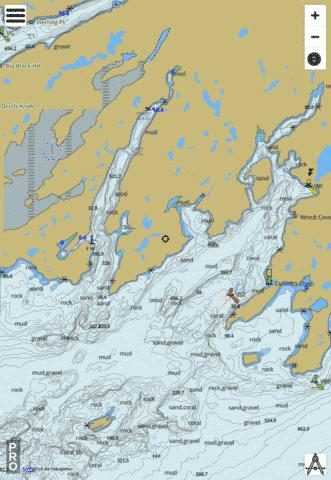 Great Bay de l'Eau and Approaches/et les approches Marine Chart - Nautical Charts App