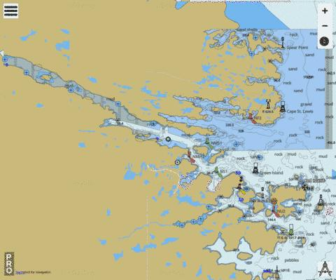St. Lewis Sound and/et Inlet Marine Chart - Nautical Charts App