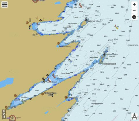 Harbour Grace and/et Carbonear Marine Chart - Nautical Charts App