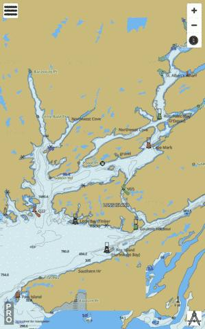 Bay D'Espoir and/et Hermitage Bay Marine Chart - Nautical Charts App