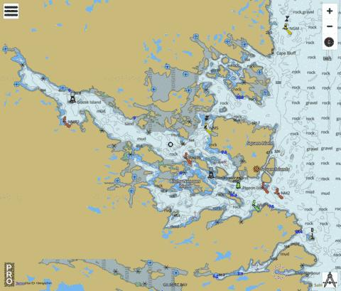 Approaches to/à White Bear Arm Marine Chart - Nautical Charts App