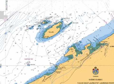Chenal du Bic et les approches\and approaches Marine Chart - Nautical Charts App