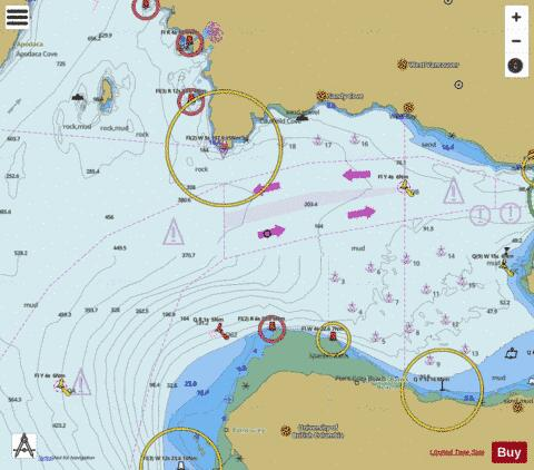 Approaches to/Approches \xE0 Vancouver Harbour Marine Chart - Nautical Charts App