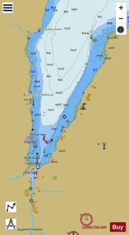 Owen Sound Harbour Marine Chart CACA573368 Nautical Charts App