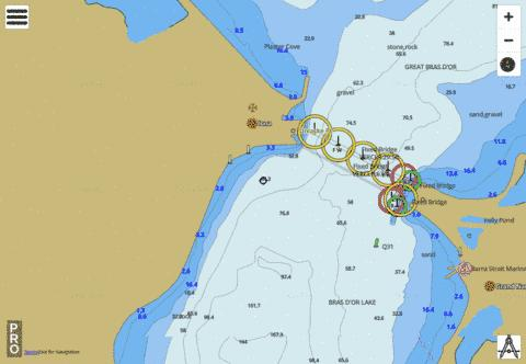 Iona and/et Grand Narrows Marine Chart - Nautical Charts App
