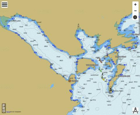 Chateau Bay Marine Chart - Nautical Charts App