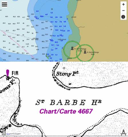 St. Barbe Wharf and Approaches/Quai et approches Marine Chart - Nautical Charts App