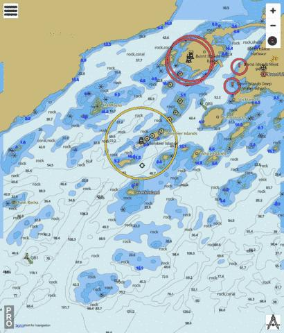 Burnt Island Marine Chart - Nautical Charts App