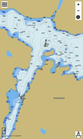 Northern Entrance to Squasho Run Marine Chart - Nautical Charts App
