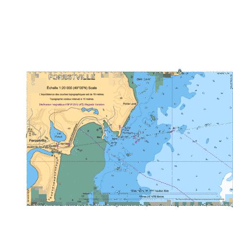 Forestville Marine Chart - Nautical Charts App