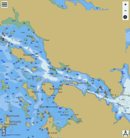 Entr�e\Entrace La Grande D�charge Marine Chart - Nautical Charts App