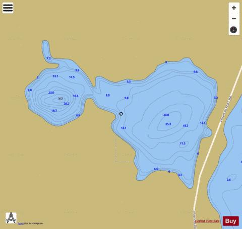 Kulhavy Lake Fishing Map - i-Boating App