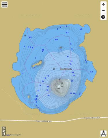 Beautiful Lake Fishing Map - i-Boating App