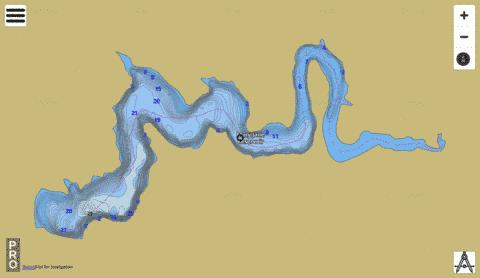 Mary Jane Reservoir Fishing Map - i-Boating App