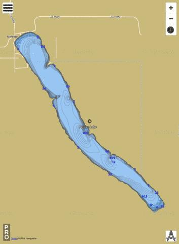 Pelican Lake Fishing Map - i-Boating App