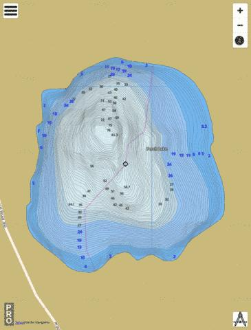 Perch Lake Fishing Map - i-Boating App