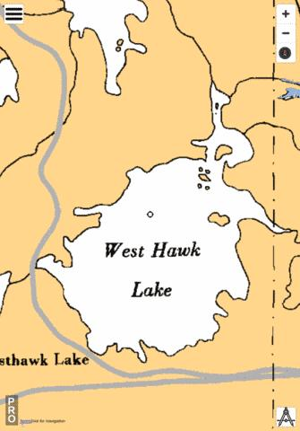 Westhawk Lake Fishing Map - i-Boating App