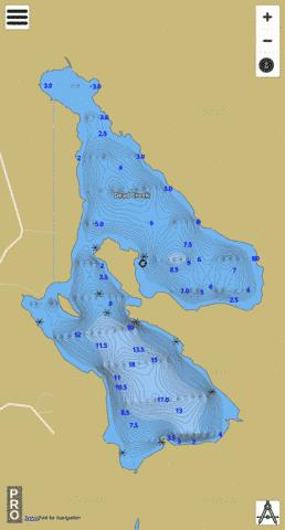First Eel Lake Fishing Map - i-Boating App