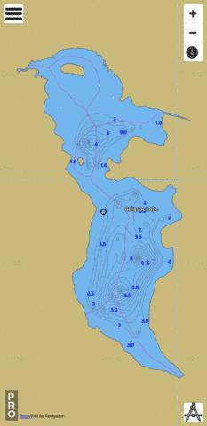 Gulquac Lake Fishing Map - i-Boating App
