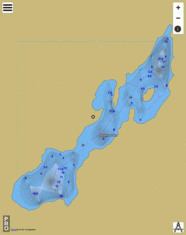 Hunter Lake Fishing Map - i-Boating App