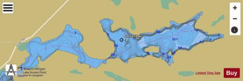 Morgan Lake Fishing Map - i-Boating App