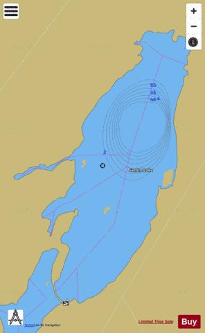 Centre Lake Fishing Map - i-Boating App