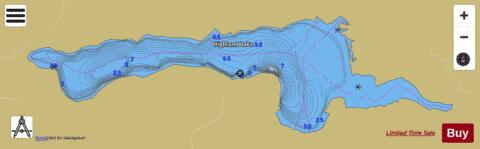 Highland Lake Fishing Map - i-Boating App