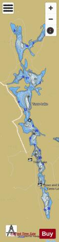 Tasso Lake Fishing Map - i-Boating App