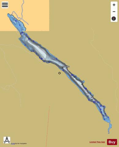 Sunny Lake Fishing Map - i-Boating App