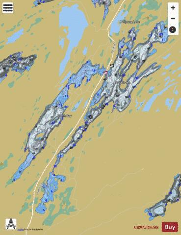 Buck Lake Fishing Map - i-Boating App