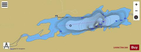 Emmett Lake Fishing Map - i-Boating App