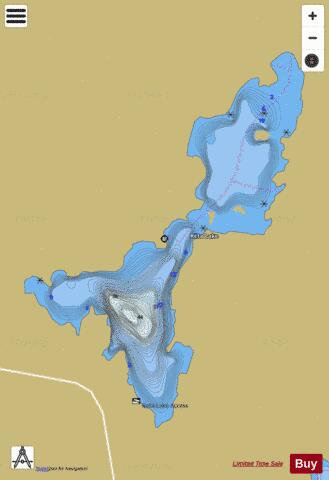 Reta Lake Fishing Map - i-Boating App