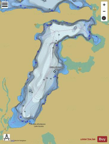 Little Athlestane Lake Fishing Map - i-Boating App