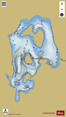 Voltaire Lake Fishing Map - i-Boating App
