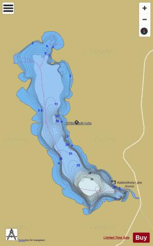 Kabitotikwia Lake Fishing Map - i-Boating App