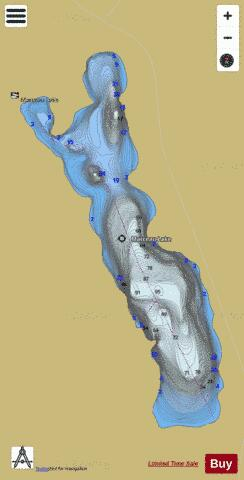 Marceau Lake Fishing Map - i-Boating App