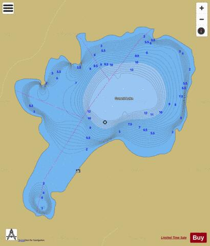 Grasett Lake Fishing Map - i-Boating App